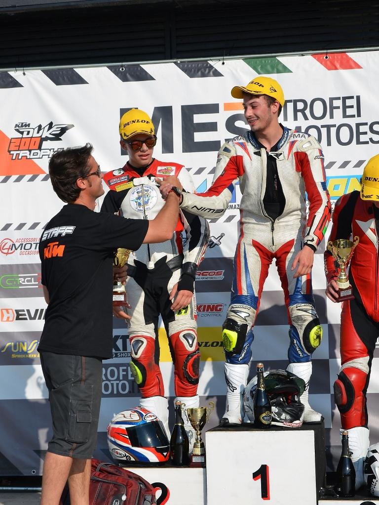 Podio per Paolo Arioni, primo ed ora in testa al Trofeo