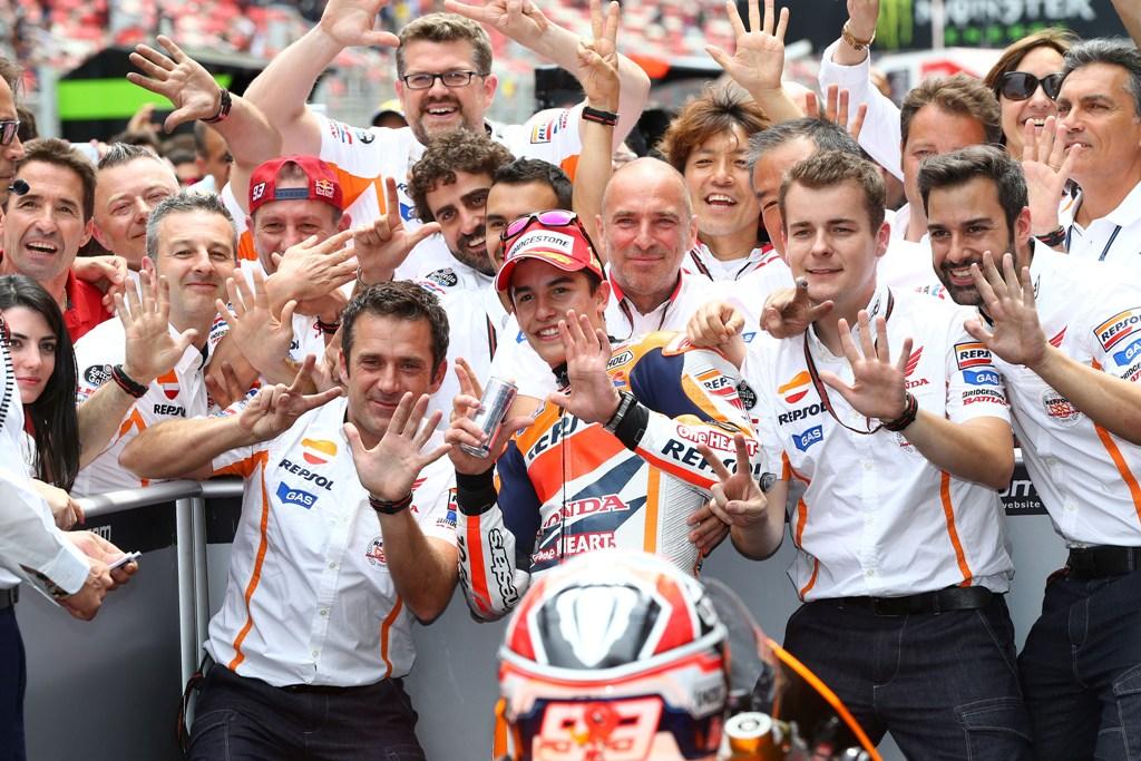 Vittoria numero per Marc Marquez, primo in Catalunya