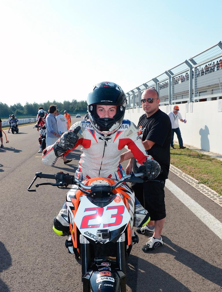 Paolo Arioni in griglia di partenza Duke 2oo Trophy