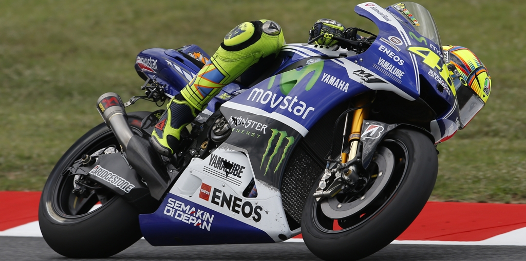 Valentino Rossi ha provato un nuovo scarico ieri