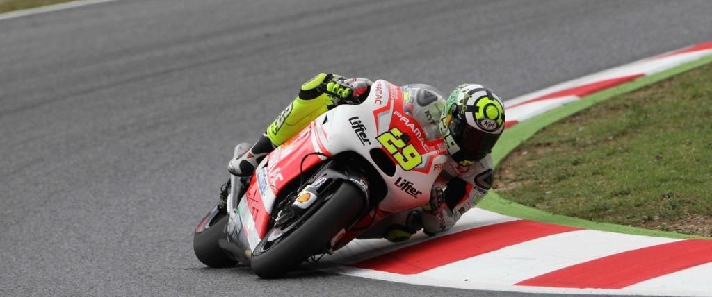 Andrea Iannone ieri al GP Catalunya