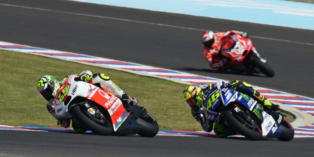 Duello con Rossi al GP Argentina