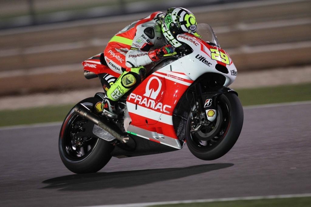 Andrea Iannone in Qatar