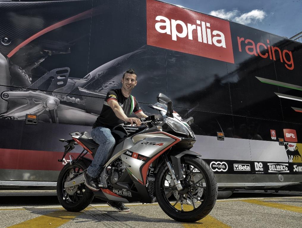 Marco Melandri e la nuova RS4 125cc