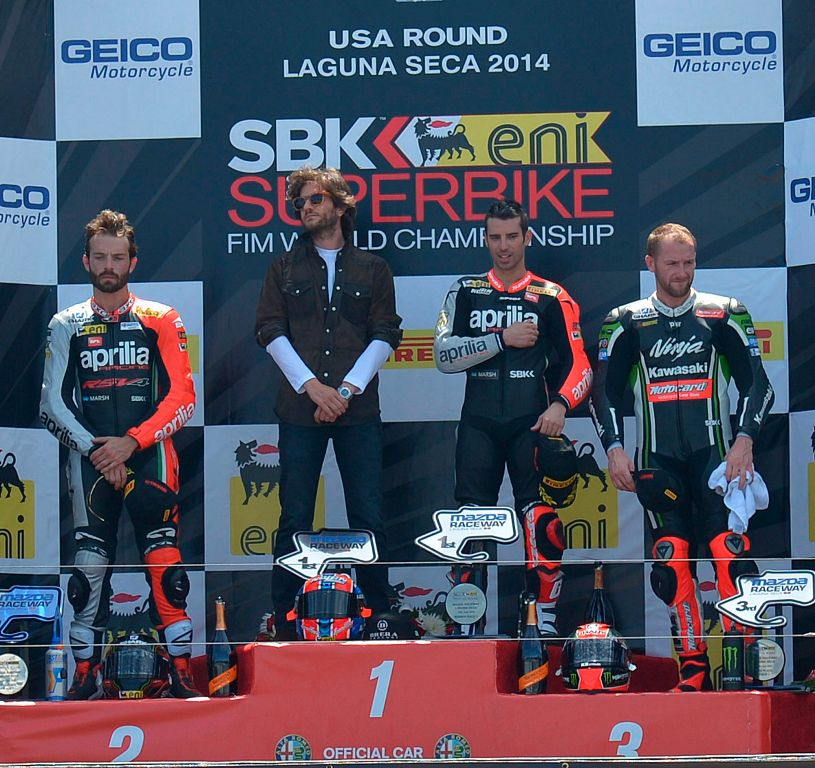 Aprilia Racing podio