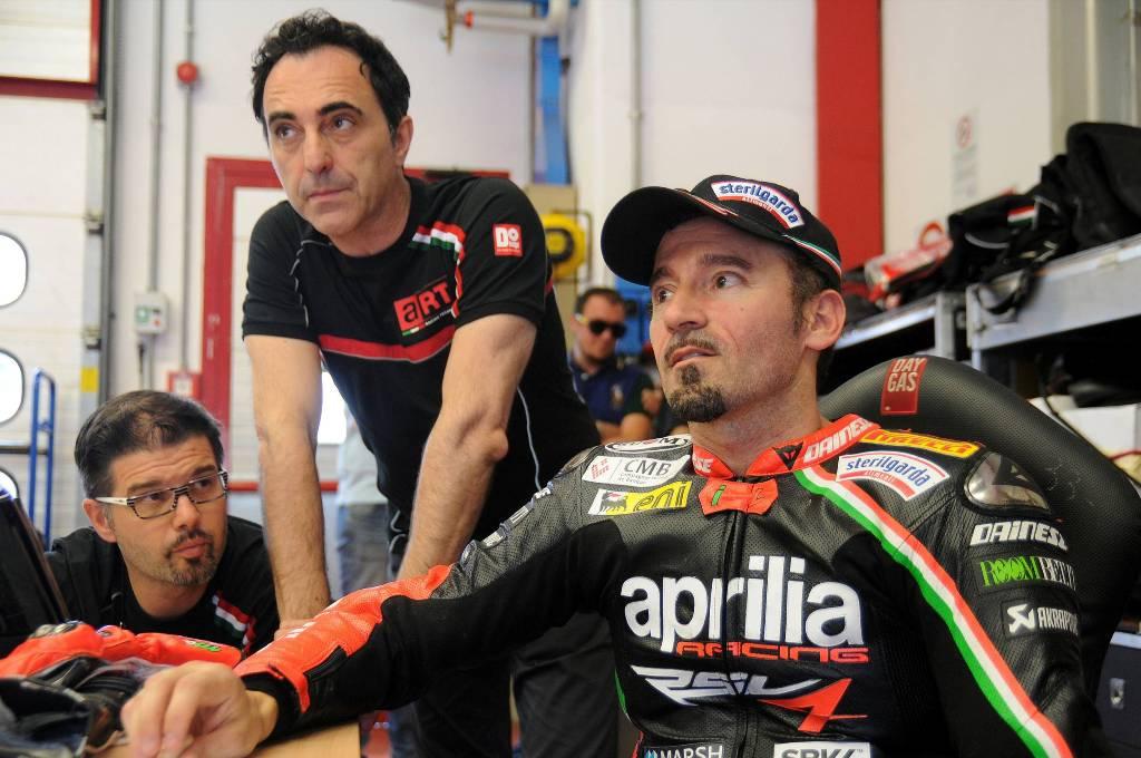 Max Biaggi lavora sulla ART- Aprilia MotoGP