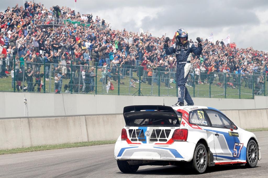 Topi Heikkinen, vincitore in Belgio della sesta prova WRX