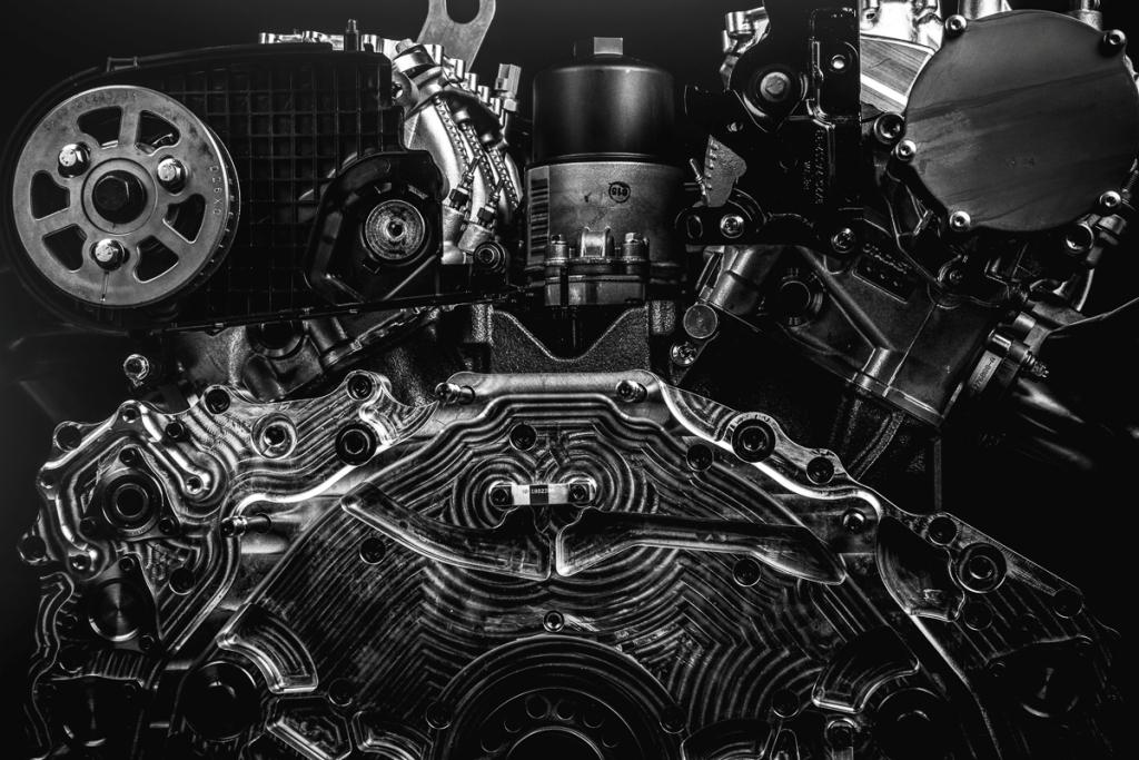 Il motore V6 della 2008 DKR Peugeot