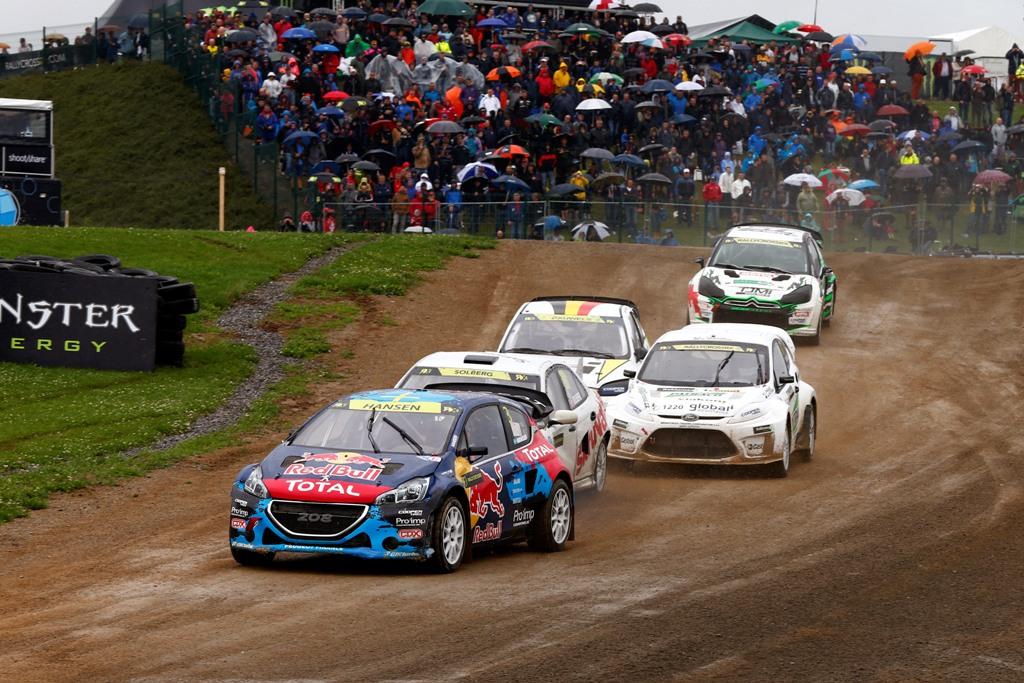 Una partenza di heat del World Rallycross