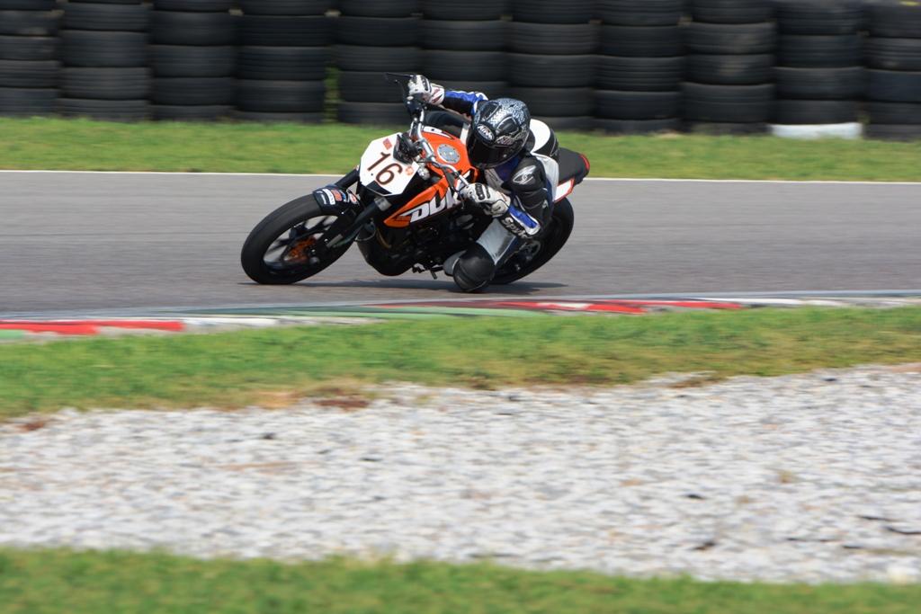 Gabriele Ruju, attualmente 4° nel Trofeo KTM