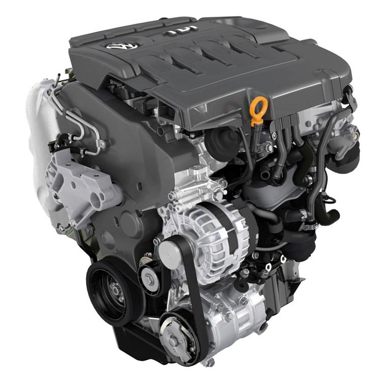"""Il quattro cilindri Volkswagen""""sedicivalvole"""" della GTD"""