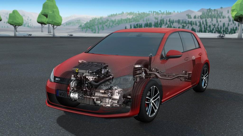 Schema sospensioni della nuova Golf GTD