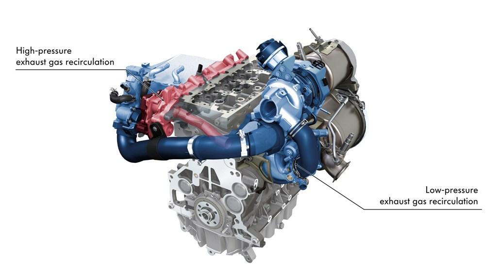 I sistemi di aspirazione e scarico del quattro cilindri Volkswagen da 2000 cc
