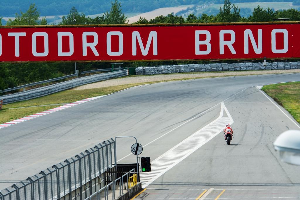 Test a Brno per la Honda 2015