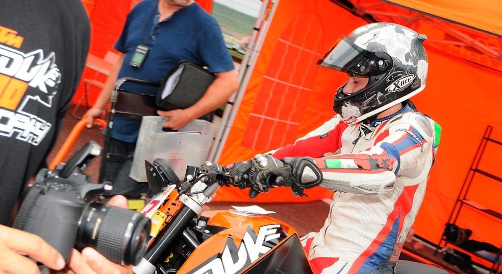 Paolo Arioni, attualmente leader di Trofeo