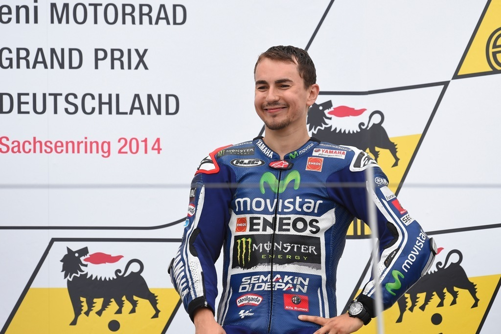 Finalmente Jorge Lorenzo di nuovo sul podio in Germania