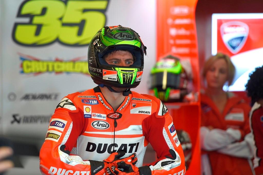 MotoGP Indianapolis 2014: Cal Crutchlow al box Ducati