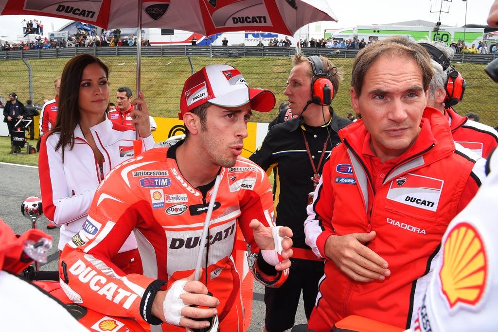 Andrea Dovizioso.si prepara alla gara di Indianapolis