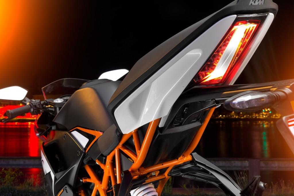 Un dettaglio della nuova KTM RC 125, la parte posteriore