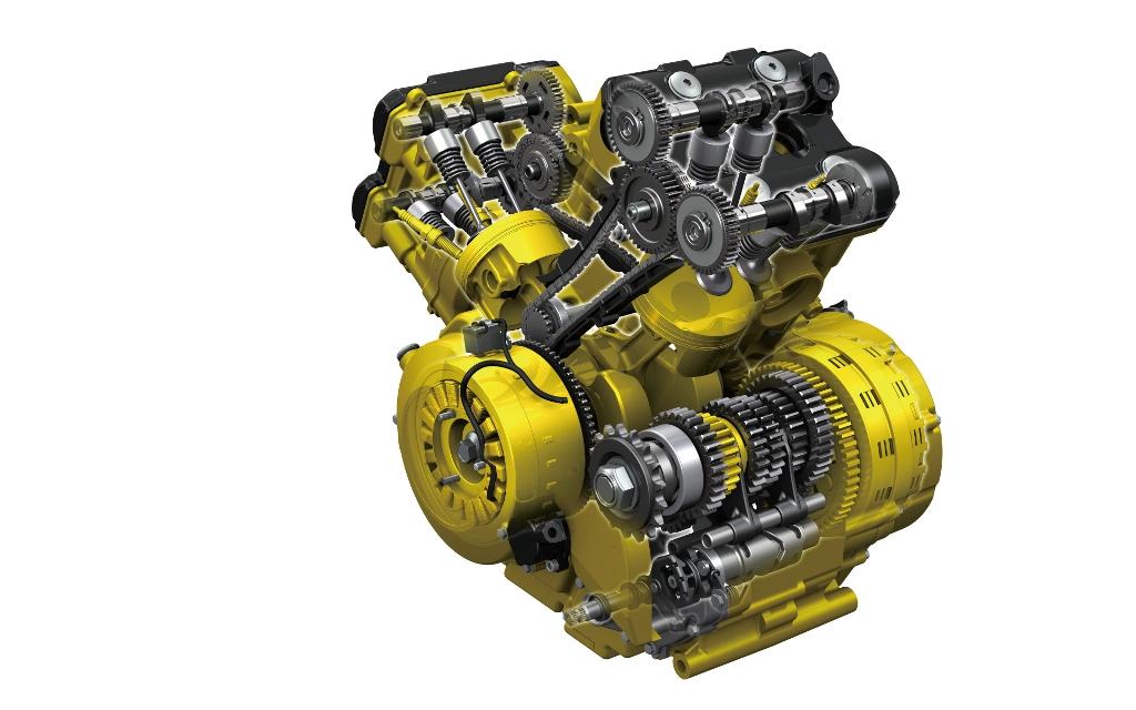 Le aree d'intervento motore rispetto alla precedente V-Strom 1000