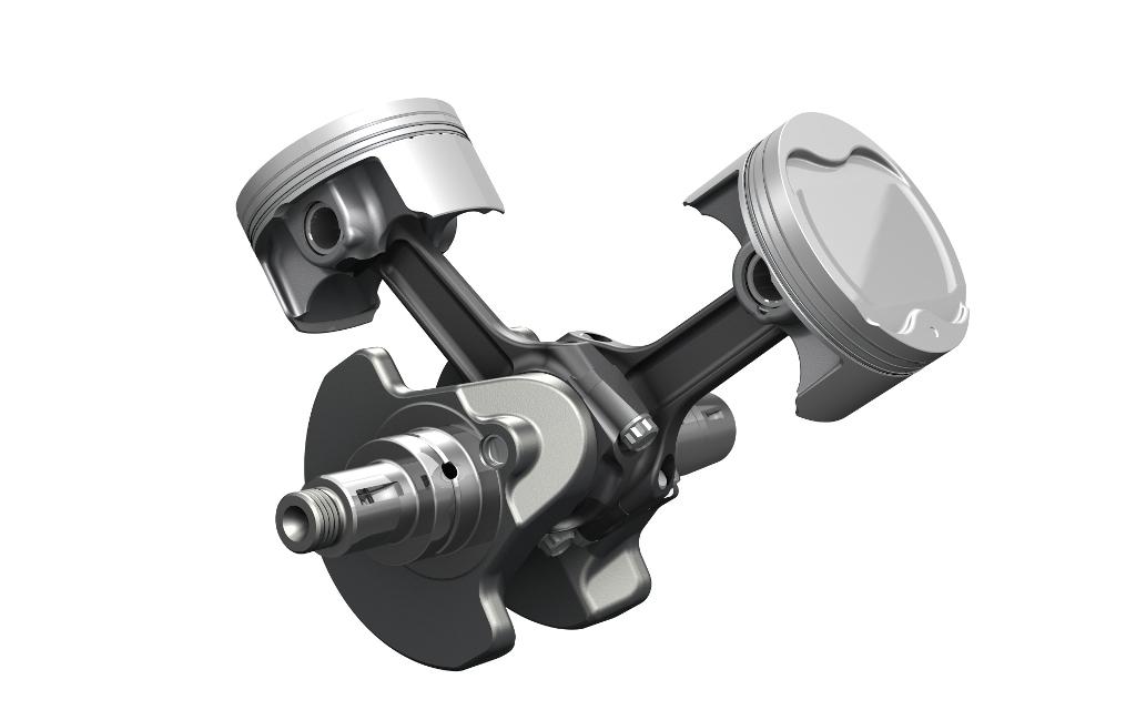 Suzuki V-Strom 1000 ABS: i nuovi pistoni ed albero motore