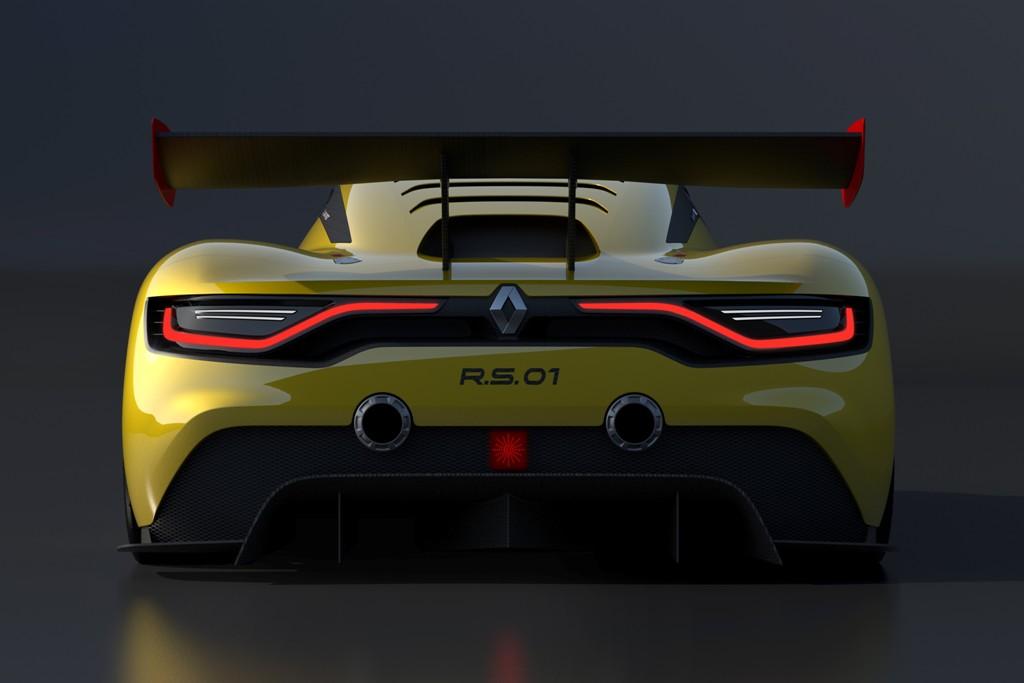 Renault RS 01, alettone mobile ed estrattori posteriori