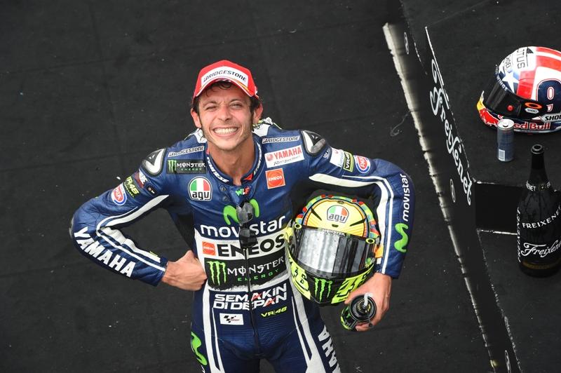 Valentino Rossi, terzo a Indy, forse la sua gara 2014 più bella