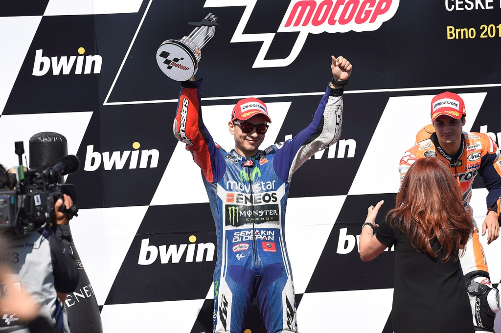 Jorge Lorenzo secondo posto a Brno 2014