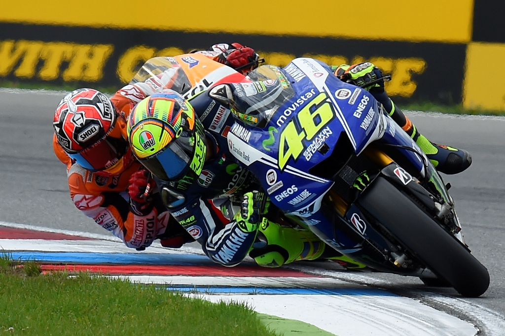 Valentino Rossi terzo a Brno 2014, duello con Marquez