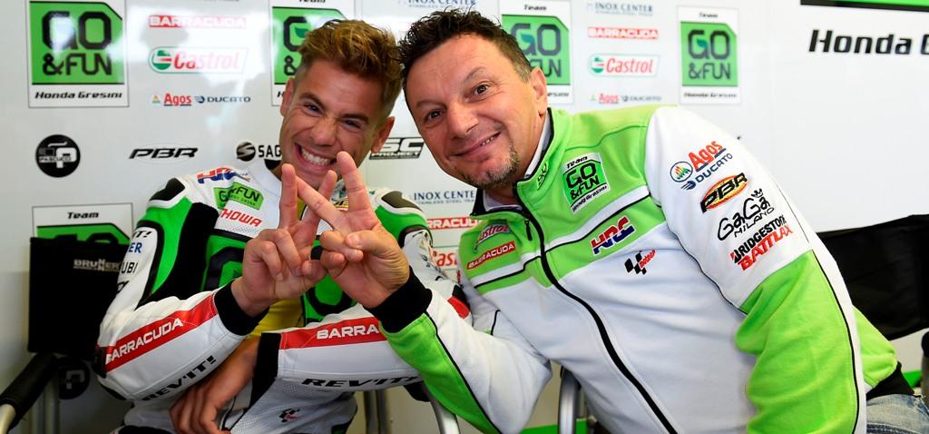MotoGP: Alvaro Bautista e Fausto Gresini con Aprilia nel 2015 e 2016 con Aprilia