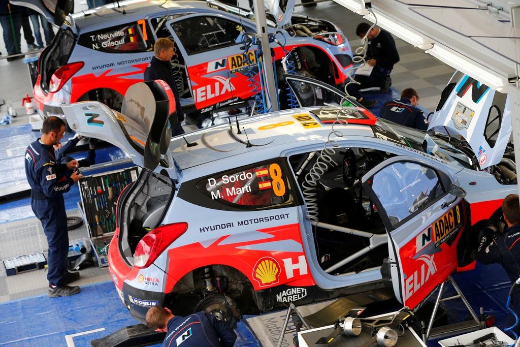 WRC 2014. il Service Hyundai, nuova espressione e concetto di box nel WRC