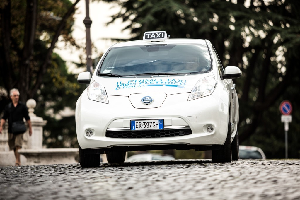La Nissan Leaf e Radiotaxi 3570, accordo storico per la Capitale