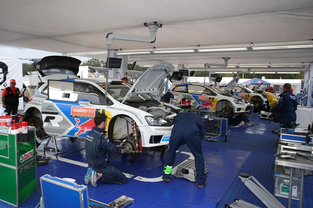 WRC 2014, Rally Australia, il box Volkswagen