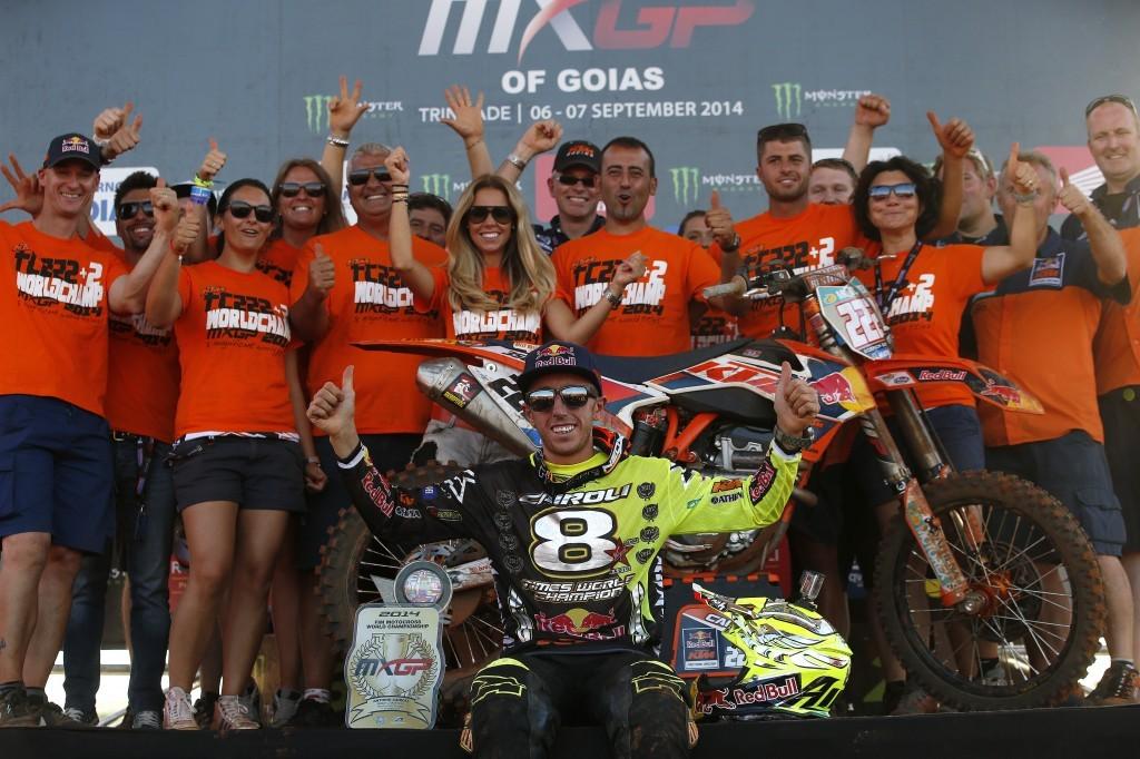 MX 2014: Cairoli ed il suo team KTM, otto titoli e si avvicina ad Everts