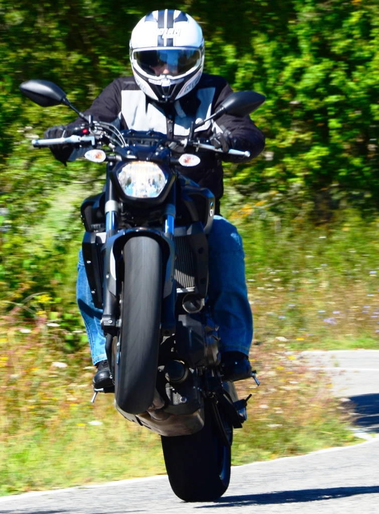 Motore ricco di coppia quello della MT-07 Yamaha