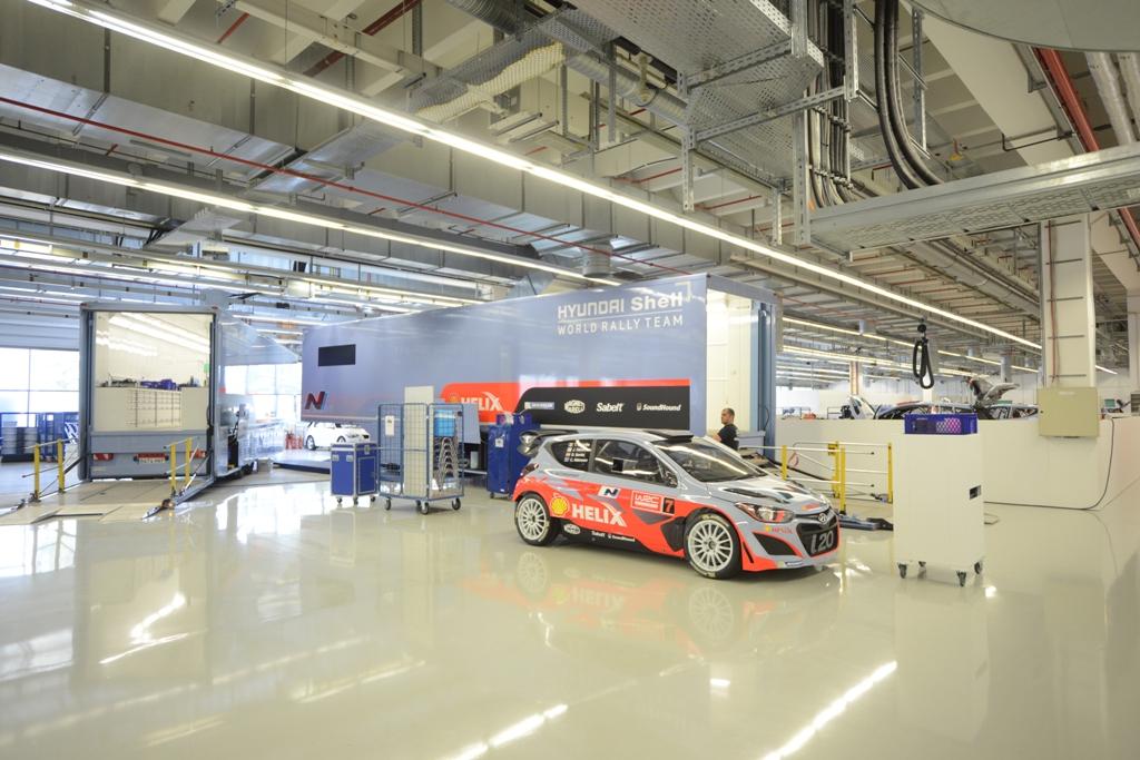 WRC 2014, Hyundai, la sede factory
