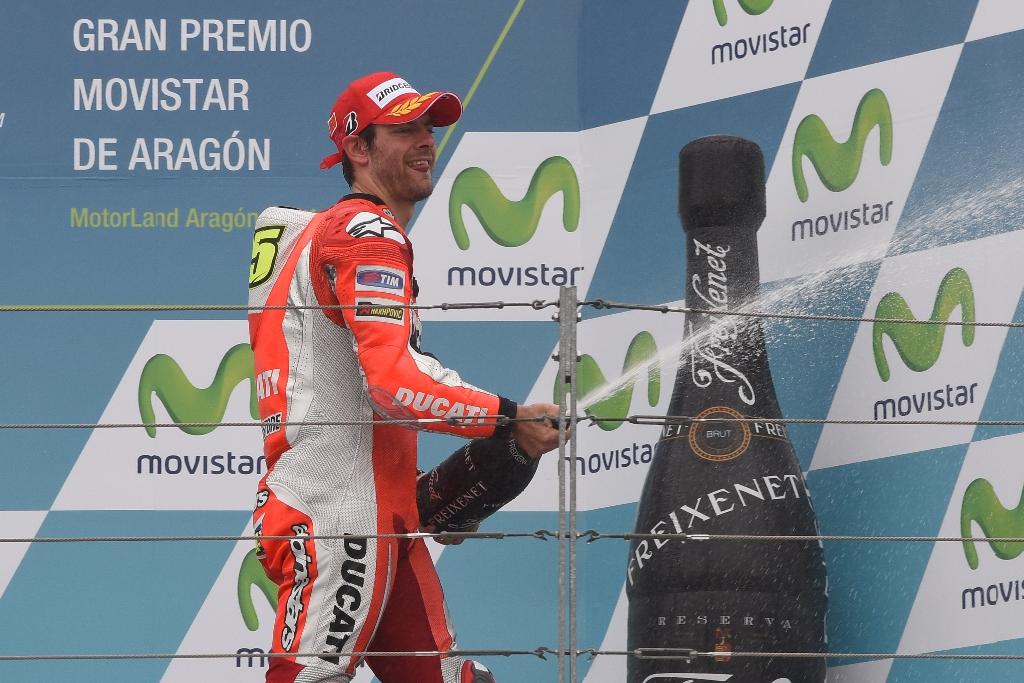 MotoGP 2014, Aragon: Cal terzo sul podio spagnolo, un grande risultato per lui