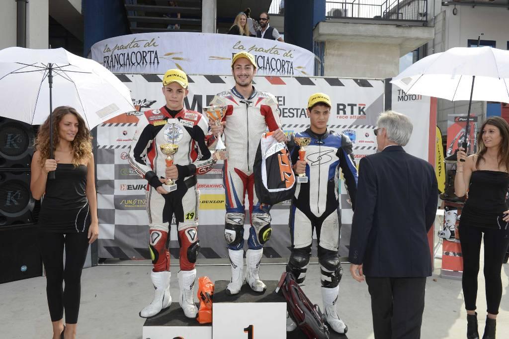 Duke Trophy 2014: podio Round 4 con Arioni, Costantino e Ruju