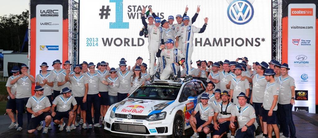 WRC 2014, Australia: titolo Costruttori per Volkswagen con la Polo WRC
