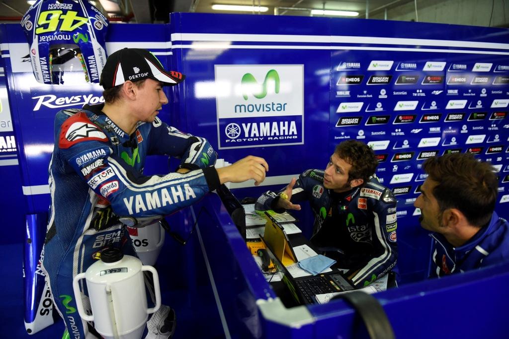 MotoGP 2014: Rossi e Lorenzo al box Yamaha