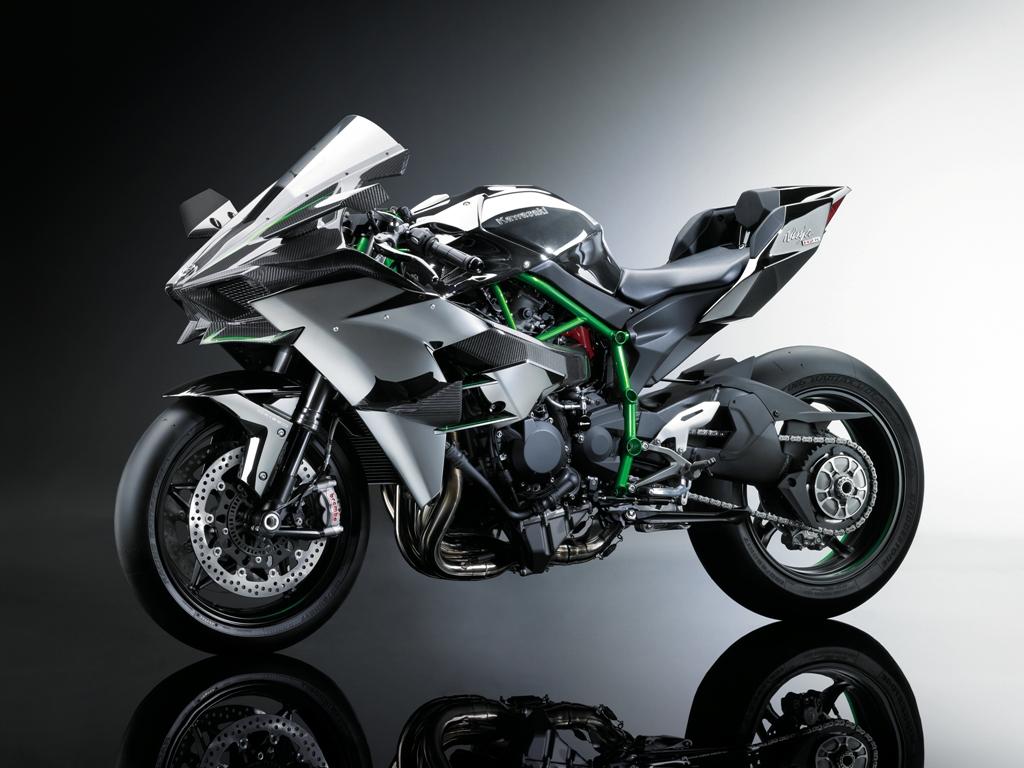 La nuova Kawasaki racing H2R, supercharged da 300 Cv