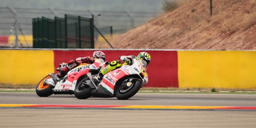 MotoGP 2014, Aragon, Andrea Iannone, Team Pramac, è caduto a causa della pioggia