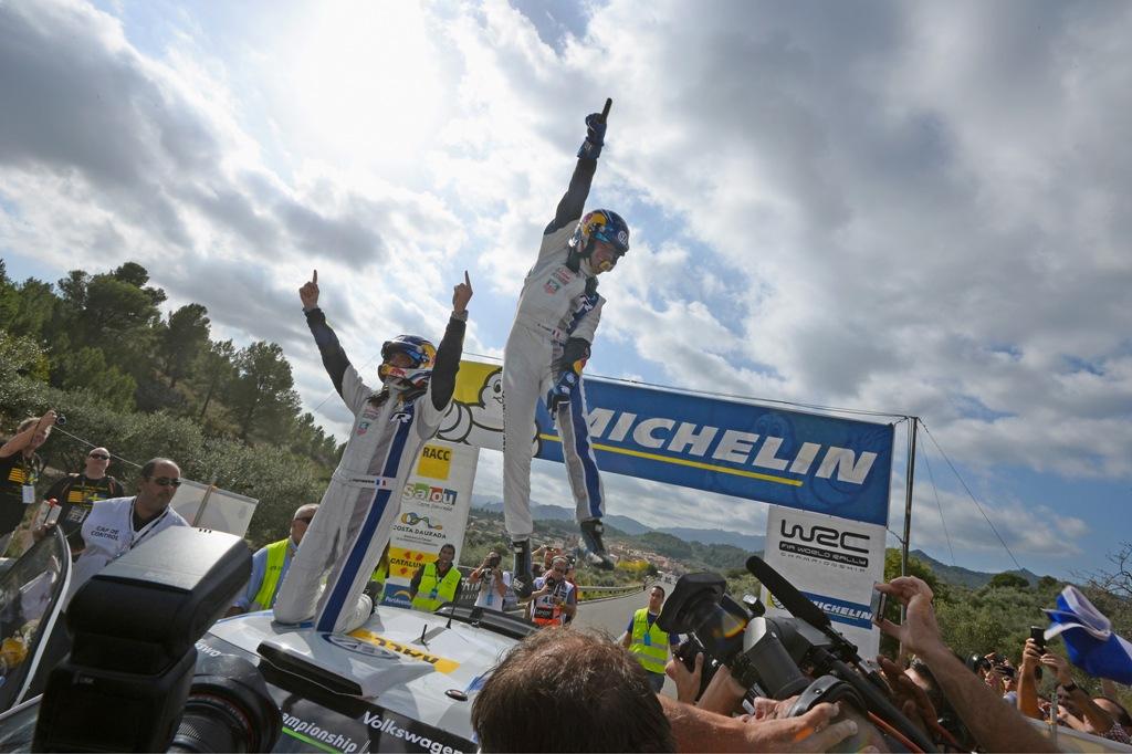 WRC 2014, Spagna, la coppia Ogier/Ingrassia vince in Spagna