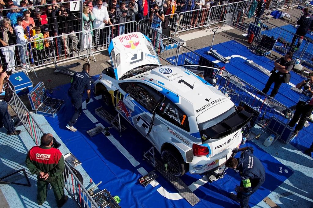 WRC 2014, Francia: si lavora sulle Polo R WRC dei piloti Volkswagen