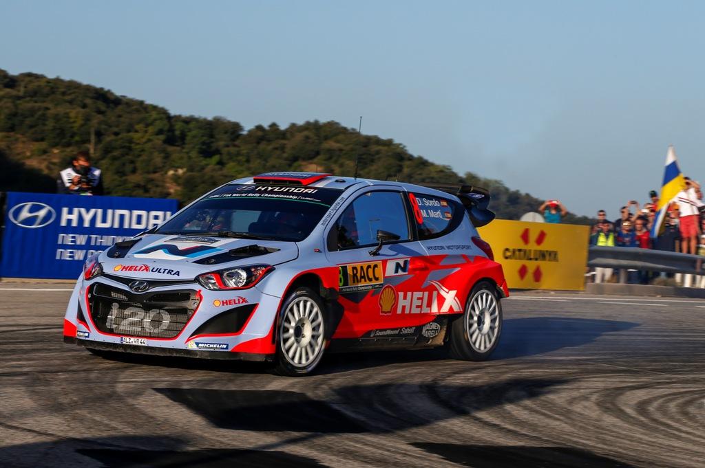 WRC 2014, Dani Sordo e la sua Hyundai WRC, 5° posto in Spagna