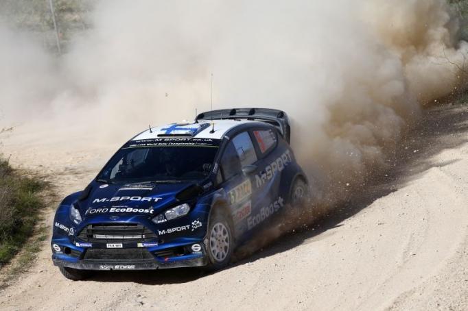 WRC 2014, Spagna, la Ford  Ecoboost WRC di Mikko Hirvonen, quarto posto per lui