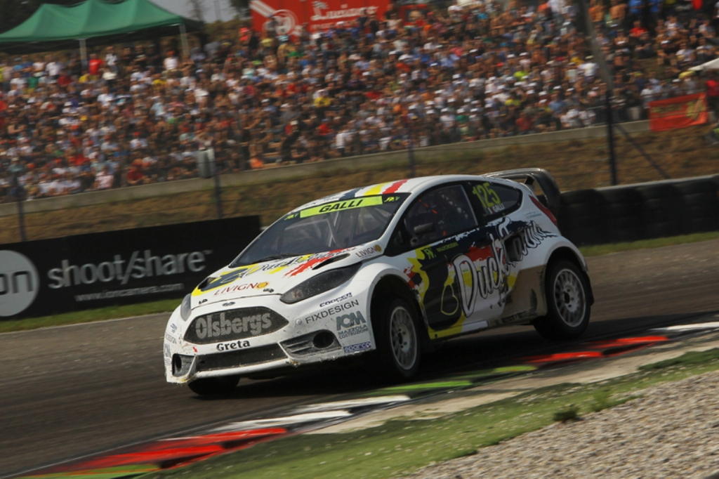 FIA Rallycross 2014: Gigi Galli sempre spettacolare nonostante un ammortizzatore rotto