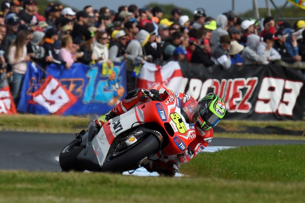 MotoGP 2014: Ducati, GP14, Cal Crutchlow caduto all'ultimo giro