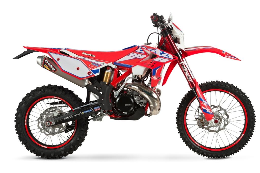 La gamma 2T Racing Beta, modifiche al motore della 250 e 300 cc
