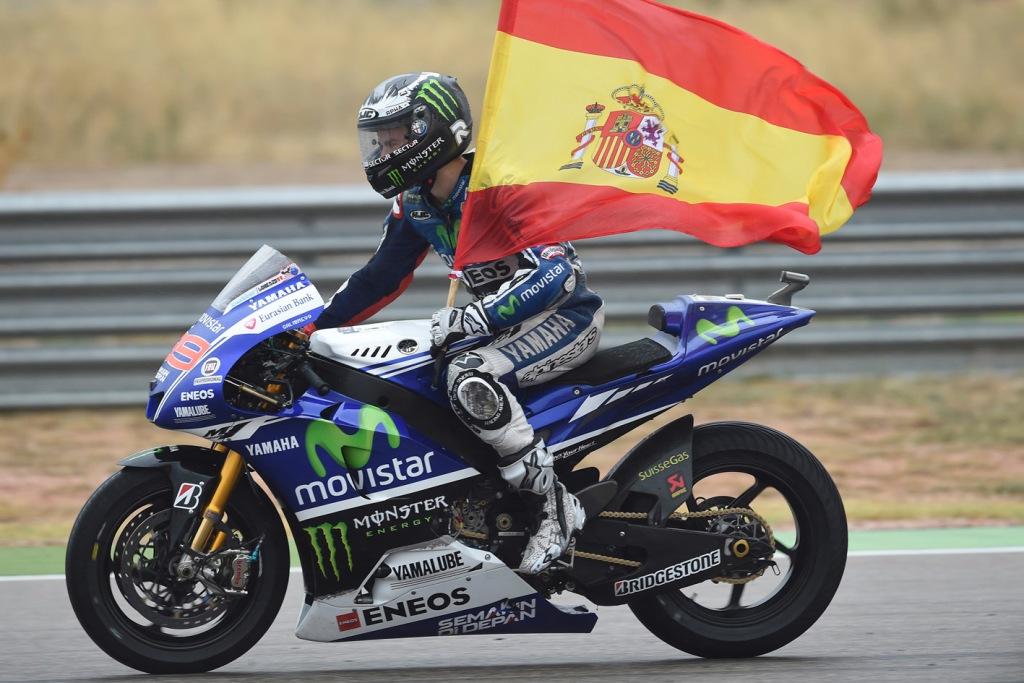 MotoGP 2014: Jorge Lorenzo, schiacciante la vittoria ad Aragon